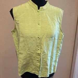 Silk/linen Blend Button Up Tank